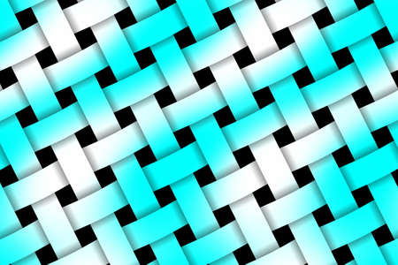 weaved: Illustration of cyan and white weaved pattern