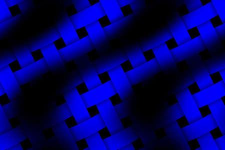 rattan: Illustration of dark blue and black weaved pattern
