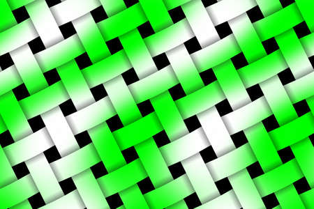 weaved: Illustration of green and white weaved pattern