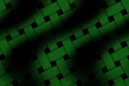 weaved: Illustration of dark green and black weaved pattern