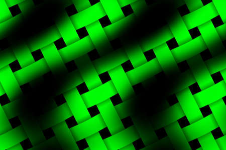 weaved: Illustration of green and black weaved pattern