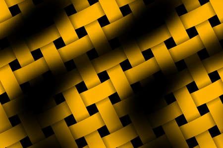 weaved: Illustration of orange and black weaved pattern Stock Photo