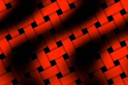 weaved: Illustration of red and black weaved pattern