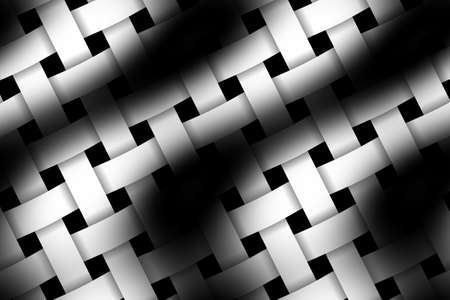 weaved: Illustration of black and white weaved pattern