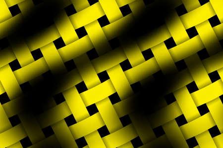 rattan: Illustration of yellow and black weaved pattern Stock Photo