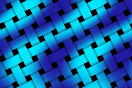 weaved: Illustration of dark blue and light blue weaved pattern Stock Photo