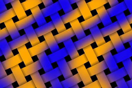 weaved: Illustration of dark blue and orange pattern weaved