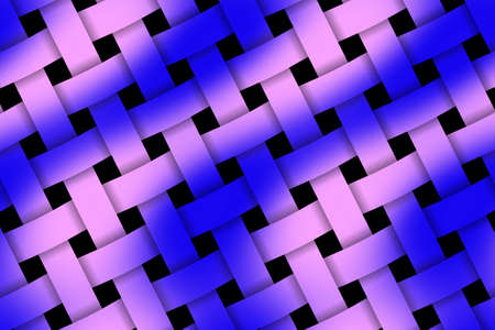 weaved: Illustration of pink and dark blue weaved pattern