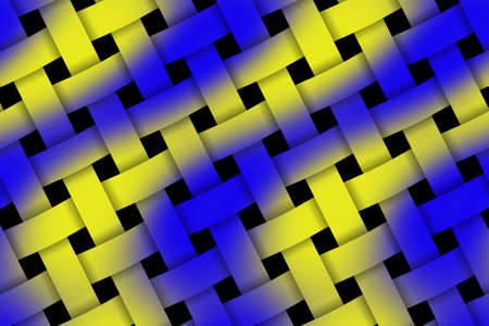weaved: Illustration of dark blue and yellow pattern weaved
