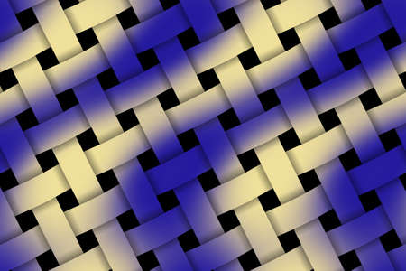 weaved: Illustration of dark blue and vanilla weaved pattern