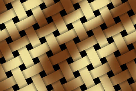 weaved: Illustration of brown and vanilla weaved pattern