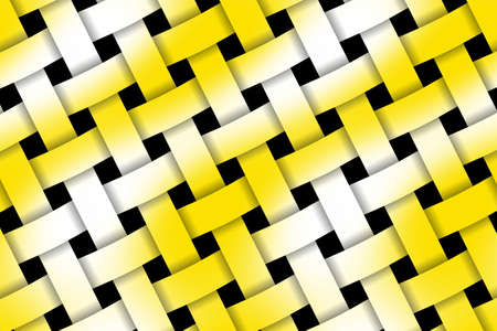 weaved: Illustration of yellow and white weaved pattern