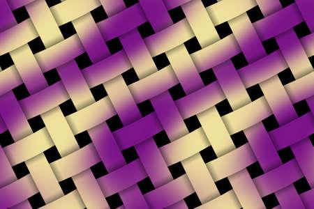 weaved: Illustration of purple and vanilla weaved pattern