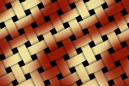 rattan: Illustration of red and vanilla weaved pattern Stock Photo