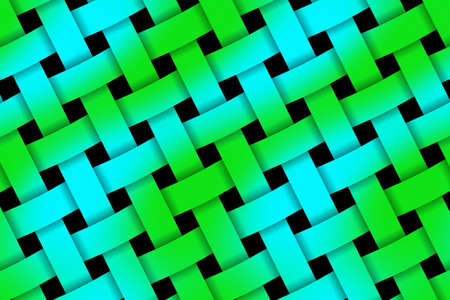 weaved: Illustration of green and blue weaved pattern