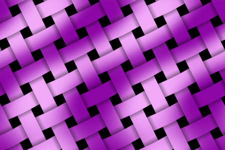 weaved: Illustration of pink and purple weaved pattern Stock Photo