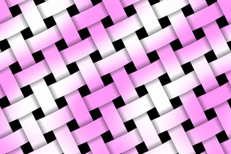 weaved: Illustration of pink and white weaved pattern Stock Photo