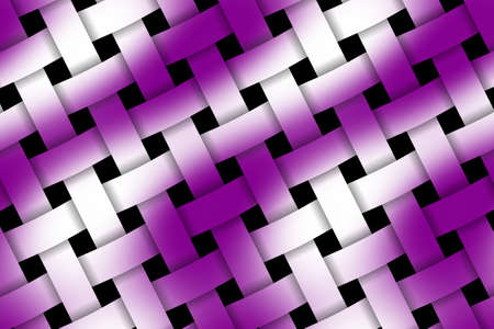 weaved: Illustration of purple and white weaved pattern Stock Photo