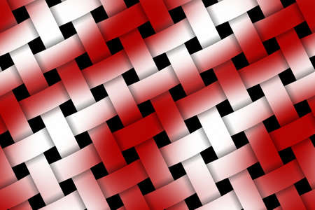 weaved: Illustration of red and white weaved pattern