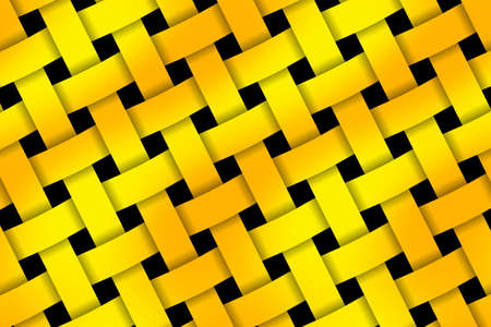 weaved: Illustration of yellow and orange pattern weaved