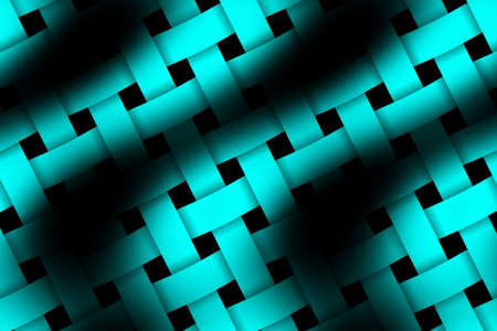 weaved: Illustration of cyan and black weaved pattern
