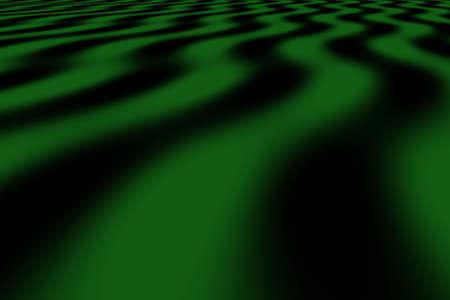 dark green: Illustration of dark green and black perspective waves