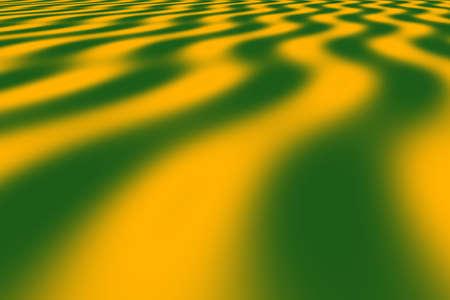 dark green: Illustration of orange and dark green waves perspective