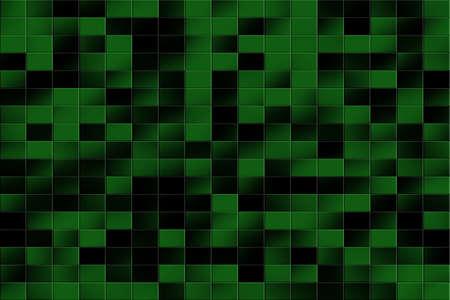 tiled: Illustration of a dark green and black tiled background
