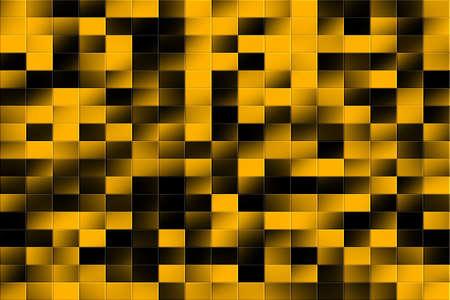 tiled: Illustration of an orange and black tiled background Stock Photo