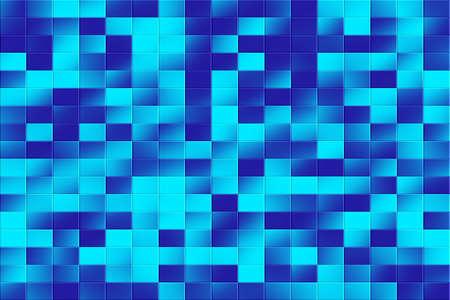 tiled: Illustration of a blue tiled background
