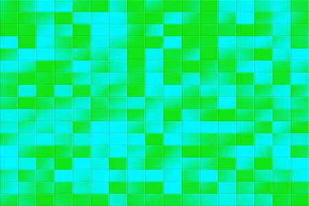 tiled: Illustration of a green and blue tiled background Stock Photo