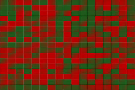 dark green: Illustration of a red and dark green tiled background