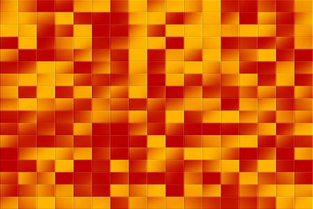 tiled: Illustration of a red and orange tiled background Stock Photo