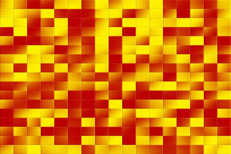 tiled: Illustration of a red and yellow tiled background Stock Photo
