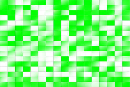 tiled: Illustration of a green and white tiled background
