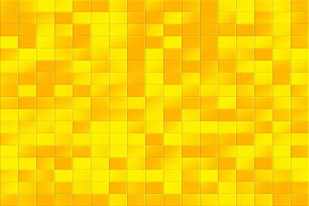 tiled: Illustration of a yellow and orange tiled background Stock Photo