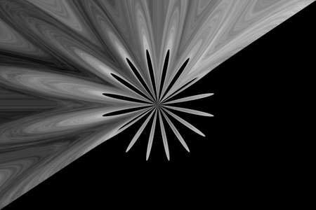 gray flower: Illustration of an abstract gray flower in the middle