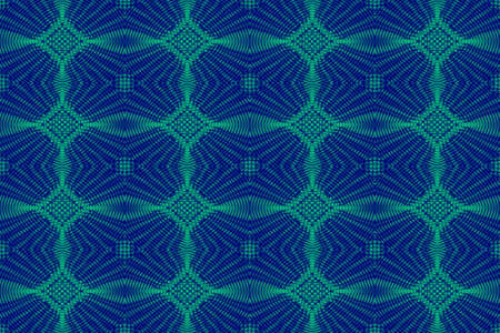 Illustration of blue and green ornamental pattern