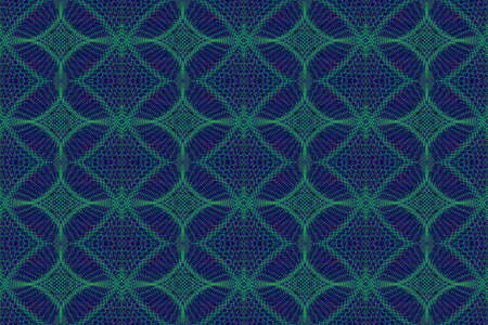 plural: Illustration of blue and green ornamental pattern