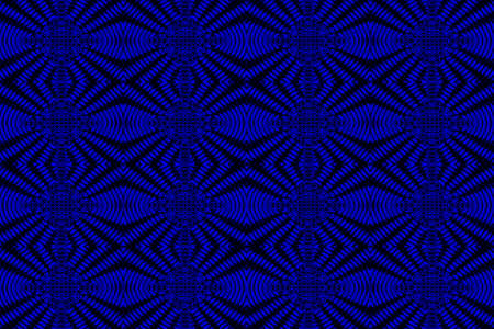 Illustration of blue and black ornamental pattern Stock Photo
