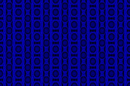 Illustration of blue and black ornamental pattern Imagens