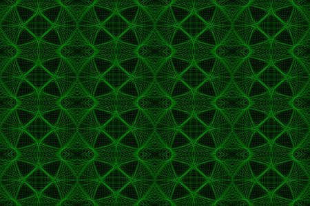Illustration of green and black ornamental pattern Imagens