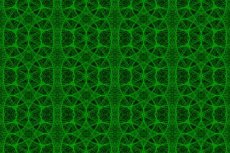plural: Illustration of green and black ornamental pattern Stock Photo