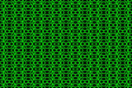 Illustration of green and black ornamental pattern Stock Photo