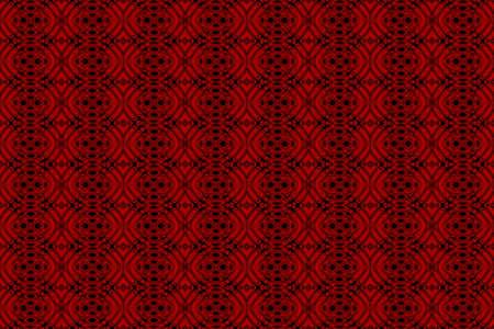 Illustration of red and black ornamental pattern Imagens