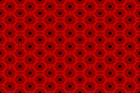 Illustration of red and black ornamental pattern Stock Photo