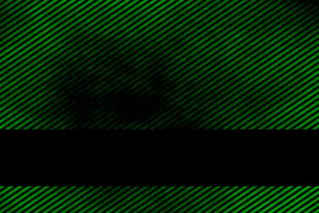 smoky: Illustration of a green smoky background with banner and diagonal stripes Stock Photo