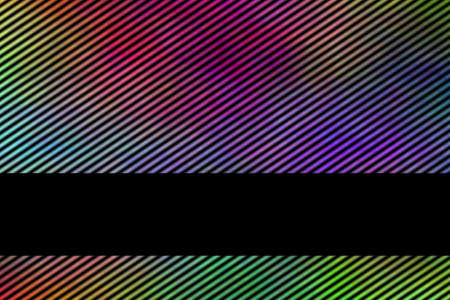 fume: Illustration of a multicolor smoky background with banner and diagonal stripes