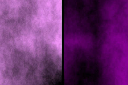Illustration of pink and purple divided smoky background