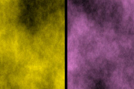 fumes: Illustration of yellow and pink divided smoky background